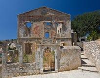 Ruine auf Symi Insel Lizenzfreie Stockfotos