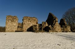 Ruine d'église de Rya Photos stock