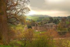 Ruine d'abbaye de Bolton. Image libre de droits