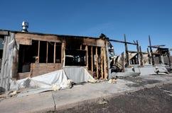 Ruine d'incendie de construction Image libre de droits