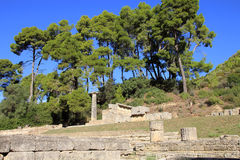 Ruine d'Olympia Photos stock