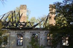 Ruine d'un manoir Photographie stock