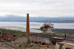 Ruine d'usine Image libre de droits