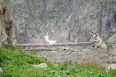 Ruine dans la haute montagne Photos stock