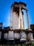 Ruine dans le forum à Rome Photo stock