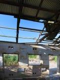 Ruine de caserne d'armée en EN Gedi, Israël Photographie stock