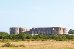 Ruine de château de Borgholm Photo stock