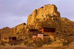 Ruine de château de Guge au Thibet Images libres de droits
