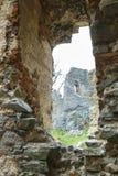 Ruine de château de Gymes Image libre de droits