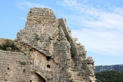 Ruine de forteresse, Ston, Croatie Photo stock