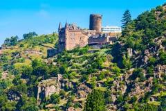 Ruine de Katz Castle dans St Goarshausen photographie stock