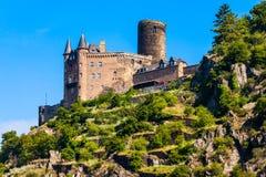Ruine de Katz Castle dans St Goarshausen image libre de droits