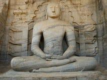 Ruine de Polonnaruwa, sculpture en Bouddha chez Gal Vihara, Sri Lanka Photo stock