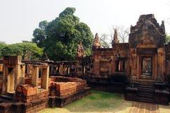 Ruine de sanctuaire de ventre de Muang de Buriram Thaïlande Photos stock