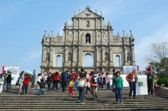 Ruine de Sao Paulo, Macao Photo stock