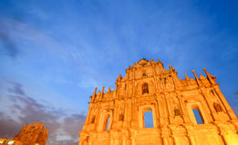 Ruine de St Paul, Macao Photographie stock