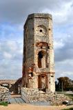 Ruine de tour de château, Pologne Image libre de droits