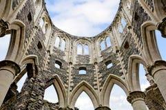 Ruine der Abtei von hambey in Frankreich Stockfotografie