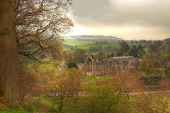 Ruine der Bolton-Abtei. Lizenzfreies Stockbild