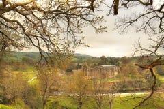 Ruine der Bolton-Abtei. Lizenzfreies Stockfoto