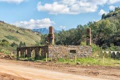 Ruine der historischen Handelsstation auf der Sani-Durchlaufstraße Lizenzfreies Stockbild