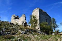 Ruine des alten Schlosses Stockbild