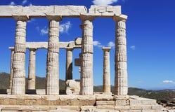 Ruine des alten Tempels in Griechenland Stockfoto