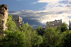 Ruine des Klosters Oybin Stockfotografie