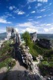 Ruine des Schlosses Gymes Lizenzfreie Stockfotografie