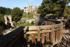 Ruine Divci Kamen de château Image stock