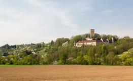 Ruine Ehrenberg i den dåliga Rappenau Tyskland Fotografering för Bildbyråer