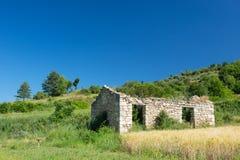 Ruine eines Hauses in Frankreich Stockfotos