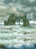 Ruine en mer Image libre de droits