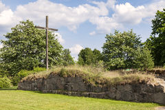 Ruine Halmstad Suède d'église d'Ovraby images stock