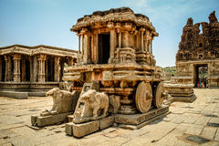 Ruine in Hampi stockbild