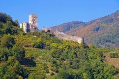 Ruine Hinterhaus de château de Spitz Photos stock