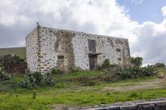 Ruine in Kanarischen Inseln Las Palmas Spanien Betancurias Fuerteventura Lizenzfreies Stockfoto