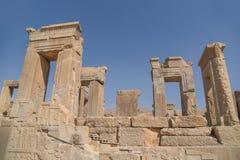 Ruine la porte de Persepolis à Chiraz, Iran Image stock