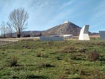 Ruine le château et le musée moderne, République Tchèque, l'Europe images stock