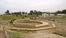 Ruine le port antique à Carthage Image stock
