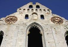 Ruine médiévale de St Nicholas Church dans Visby, Gotland, Suède image libre de droits