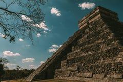 Ruine maya d'itza de Chichen image libre de droits
