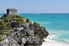 Ruine maya de Tulum Mexique Images libres de droits