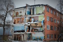 ruine sobald zes Leben kochte lizenzfreies stockbild
