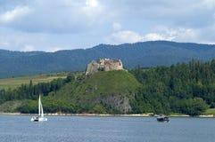 Ruine sur la côte Image libre de droits