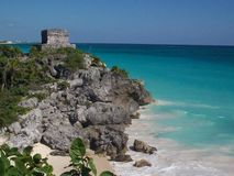 Ruine tulum. Mexique tulum ruined stock photos