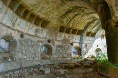 Ruine von alten Ställen des Militärforts, Salamanca stockfotografie