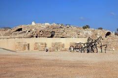 Ruine von Caesaria Stockbilder