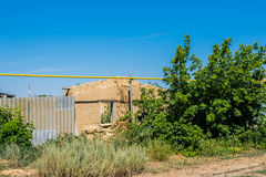 Ruined and abandoned house Stock Photo