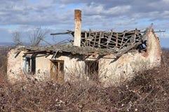 Ruined abandoned house Stock Image